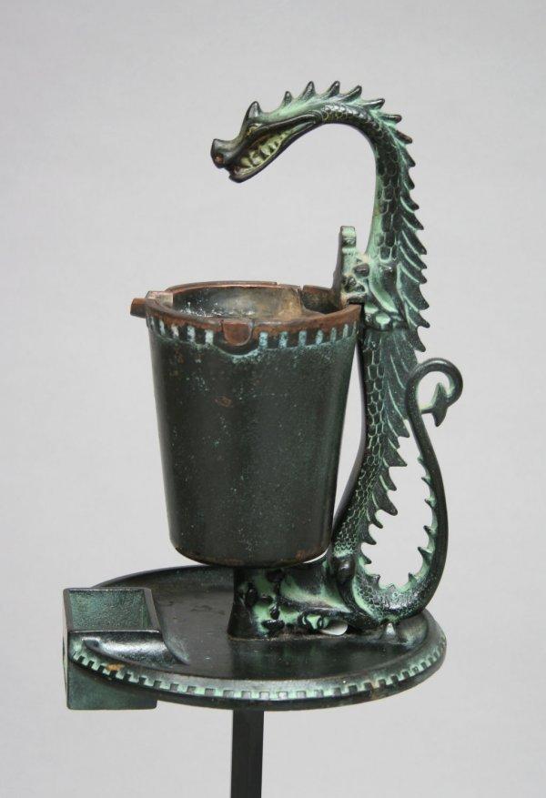 64: Cast Iron Dragon Smoke Stand - 2