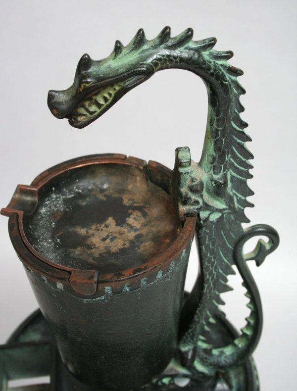 64: Cast Iron Dragon Smoke Stand - 6