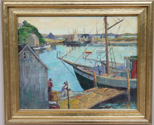 128: G. Adomeit May Show Oil Painting