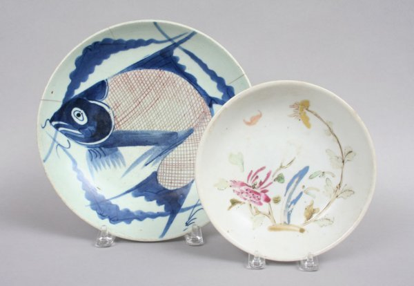 8: Two Chinese Plates, 18th c.