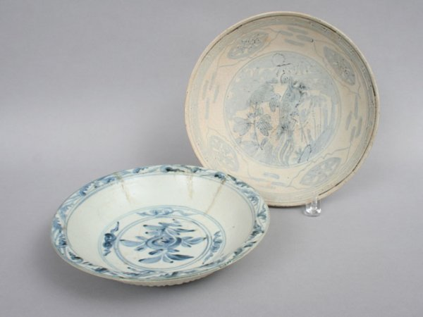 14: Two Ming Blue and White Bowls