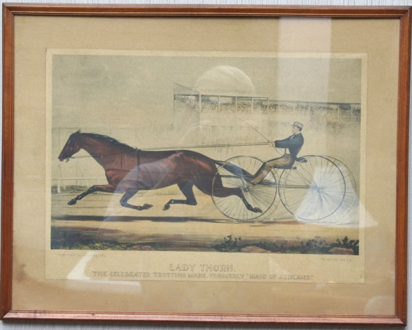 18: Pair Racing or Trotting Horse Prints