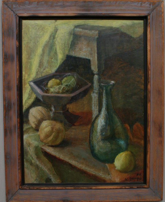 20: K. Gergo Still Life Oil Painting
