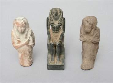 23: 3 Egyptian Mortuary Figures