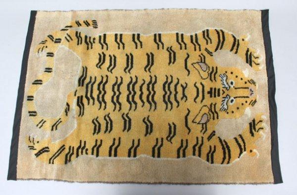 273: Vintage Tibetan Tiger Rug