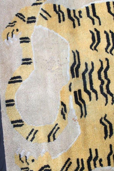 273: Vintage Tibetan Tiger Rug - 5