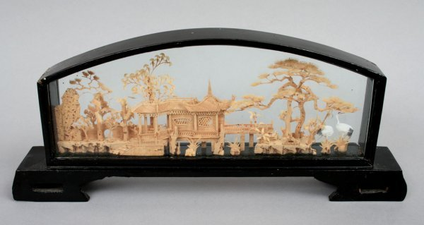 353: Chinese Miniature Wood Carving