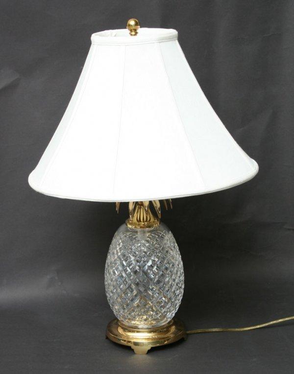 412: Waterford Crystal Pineapple Lamp