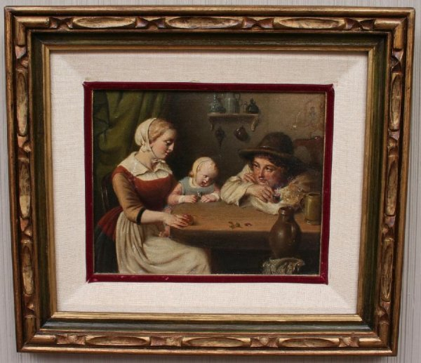5: 19th Century School Family Painting
