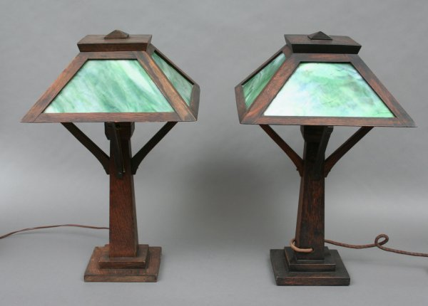 20: Pair of Arts & Crafts Table Lamps