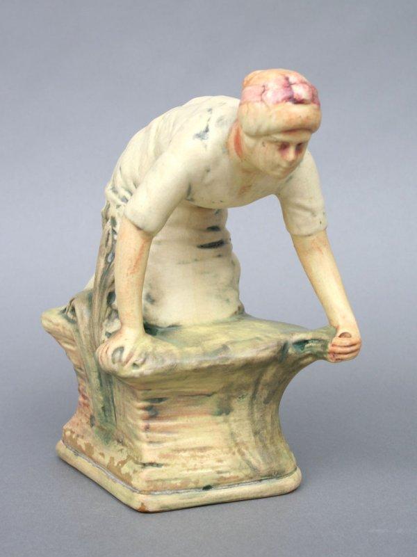 21: Weller Muskota Pottery Figure