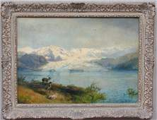 112: Hermann Herzog Elk Painting