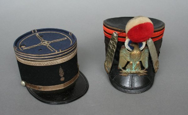 2: 19th c. French Military Doll or Model Hats