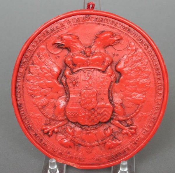 5: Carl Theodor Bavarian Wax Seal Casting