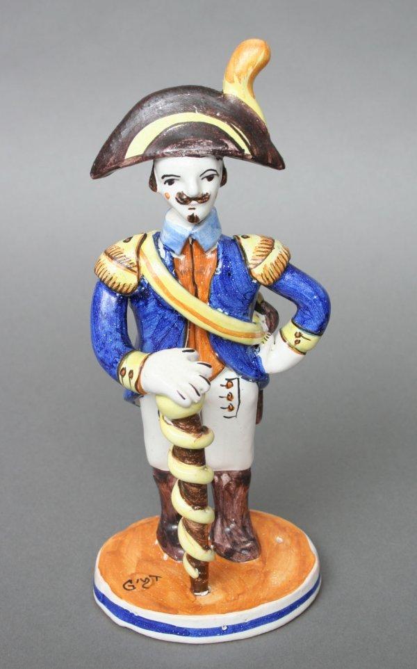 6: French Pottery Napoleonic Militaria Figure