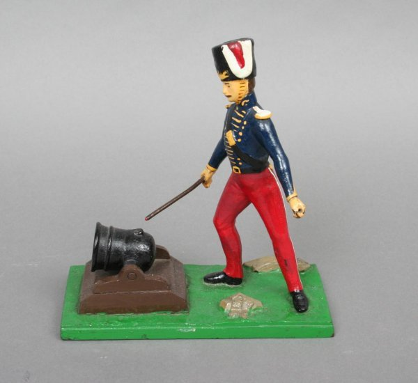9: French Cast Iron Soldier Model