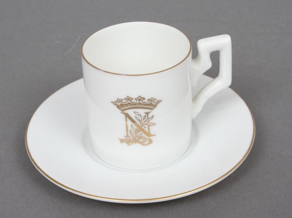 16A: Napoleonic Porcelain Cup and Saucer