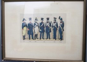19th C. French Military Costume Print