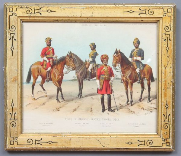 25: Anglo Indian Military Costume Print