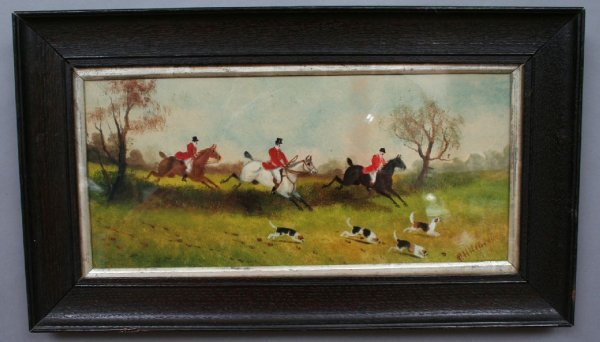 35: Edwardian Fox Hunt Painting