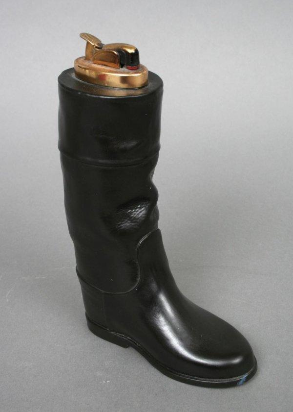 37: Evans Porcelain Riding Boot Lighter