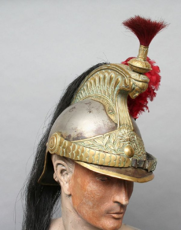 40: 19th c. French Cuirassiers Officers Helmet