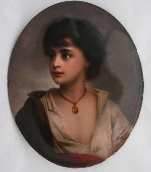 132: KPM Plaque of a Gypsy Boy