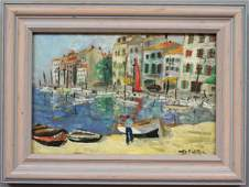 191: French Riviera Oil Painting