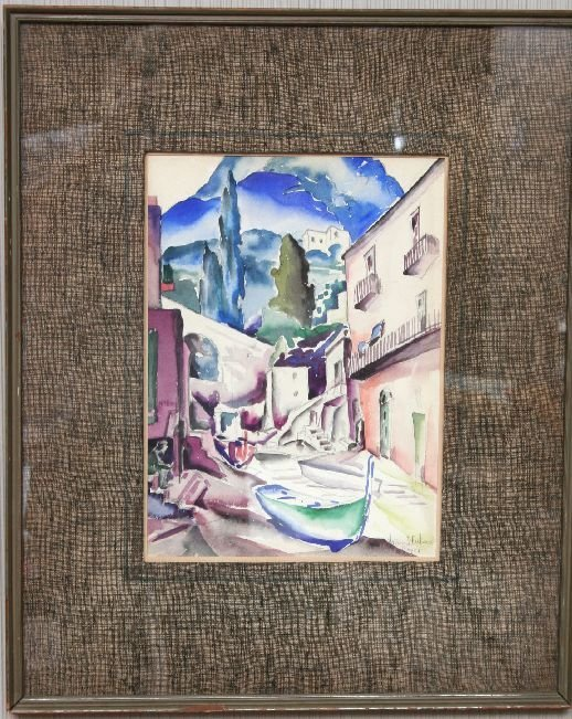 235: W.J. Eastman Capri Watercolor