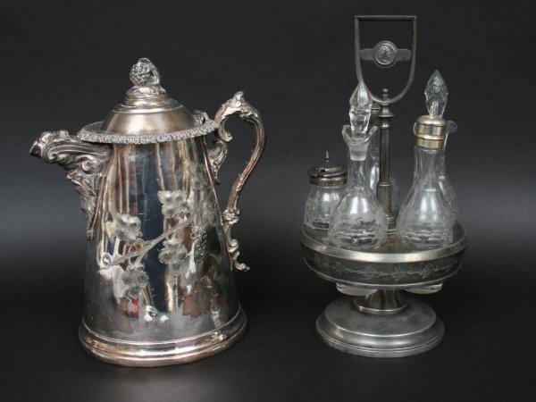 592: Victorian Silver Plate Cruet Set