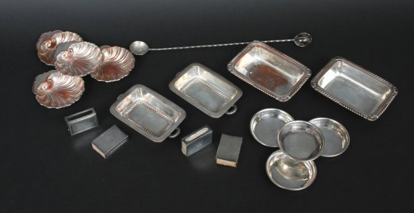 594: Group of Sterling & Plated Table Articles