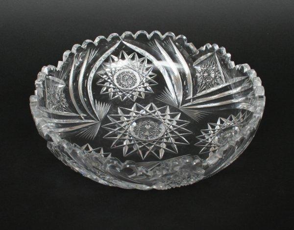 597: American Cut Glass Bowl