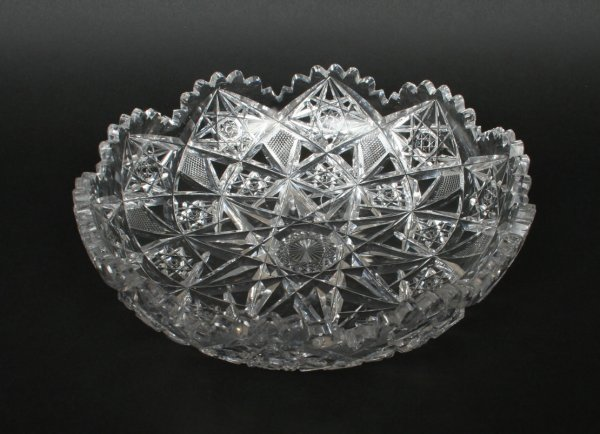 598: American Cut Glass Bowl