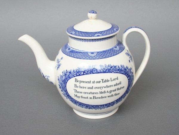 606: Wedgwood Wesley House Tea Pot