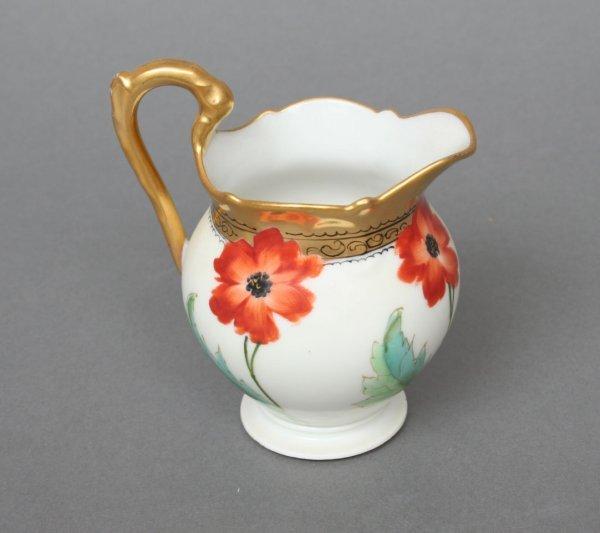 609: Limoges Porcelain Poppy Cream Jug