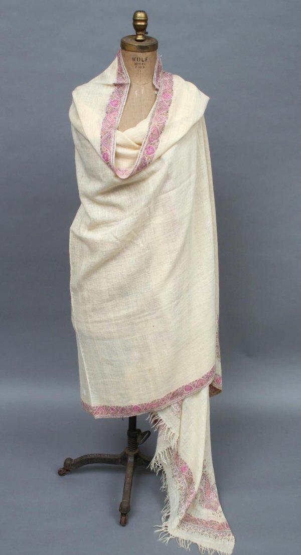 717: 19th Century Kashmir Embroidered Shawl