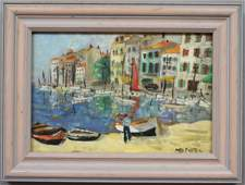 767: French Riviera Oil Painting