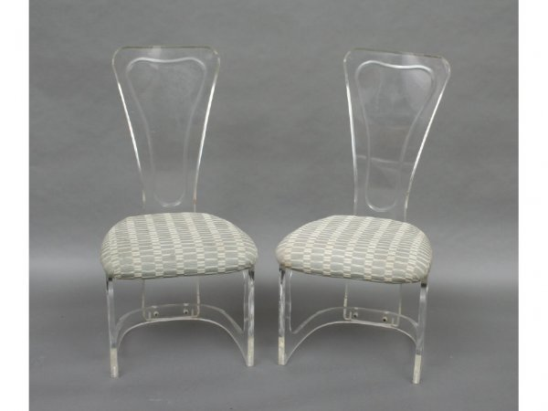 6: Pair of Modern Lucite Side Chairs