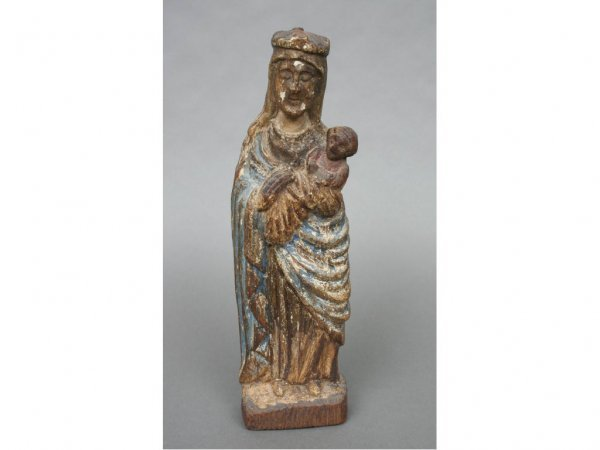 25: Spanish Mother and Child Santo 19thc