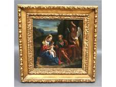 95: Circle of Guercino Oil Painting 17th c.