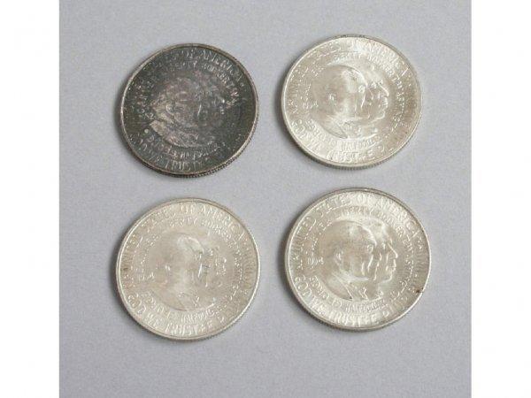 4: 1954 Washington Carver PDS Half Dollars