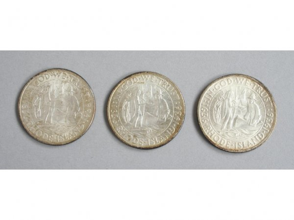 5: 1936 Rhode Island PDS Commemorative Half Dollars