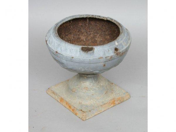 105: Vintage Cast Iron Garden Urn