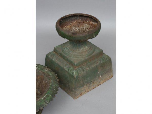 106: Pair of Kramer Cast Iron Garden Urns