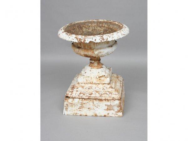 108: Vintage Cast Iron Garden Urn