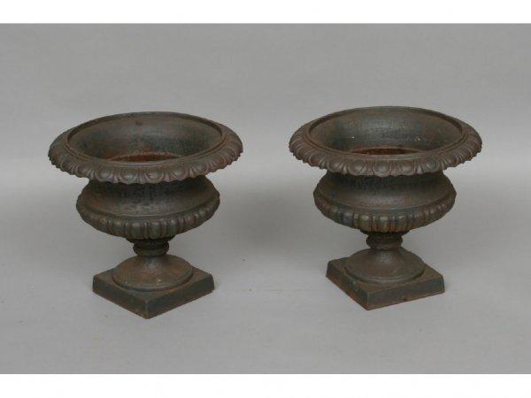 111: Pair of Vintage Garden Urns