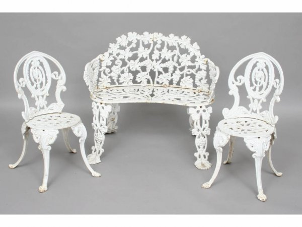 115: Pair of Vintage Wrought Iron Children's Chairs