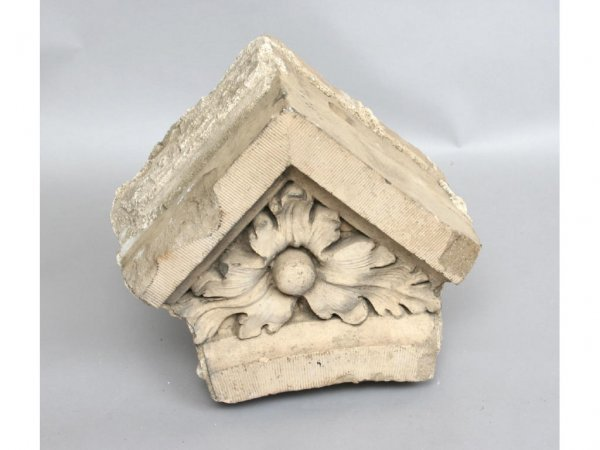 117: Floral Sandstone Corbel Architectural Detail