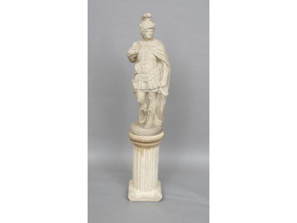 121: Vintage Roman Centurion Garden Ornament Statue