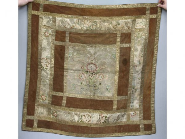 131: 18th Century Brocade Table Covering